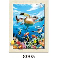 China Stunning Sea World Animals Painting 5D Pictures / Lenticular Photo Printing wholesale