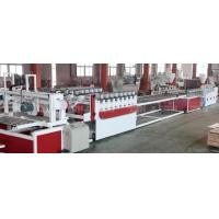 China Wood Plastic Composite Production Line / WPC Board Sheet Profile Extruder Machinery wholesale
