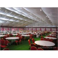 China Decorated Backyard / Garden Big Wedding Tents High Strength For 1000 People wholesale