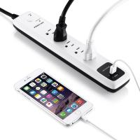 China 5- Outlet Surge Protector Electrical Power Strip 6ft Cord with Dual Smart USB Ports for TV , Laptop on sale