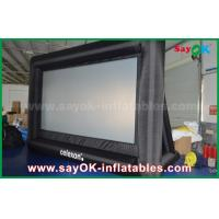 China PVC Custom White / Black Inflatable Projection Screen WIth Frame SGS Approval wholesale