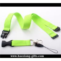 China Promotional wholesale blank nylon lanyard custom your size printed your logo wholesale
