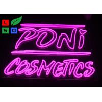 China DC12V Voltage Pink Color Dual Lines Customized Made LED Neon Sign For Interior Shop Signage wholesale
