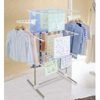 China 3 Tier Foldable Clothes Rack Dryer Hanger NG-300W1 with Wheel wholesale