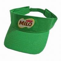 China Sun visor cap, made of cotton twill wholesale