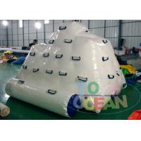 China Small Floating Inflatable Water Toys For Climbing White Iceberg 2.5X2.5X1.7M wholesale
