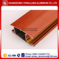 Buy cheap Powder coated wood grain aluminum extruded profile for door, aluminum door frame wood color from wholesalers