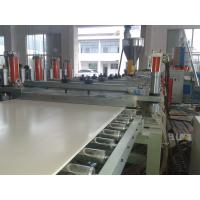 China Solid WPC PVC Foam Board Extrusion Line Flame Retardant Stable Output High Precision on sale