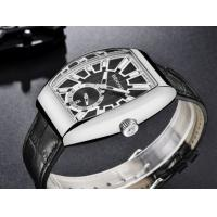 Quality Wholesale Benyar Men Retro Barrel Shaped Genuine Leather  Band Quartz  Watch BY-5136M for sale
