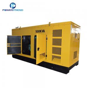China Silent Type 400kw 500kva Diesel Power Generator Set CE / ISO9001 Certificate wholesale