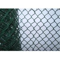 China 8 Foot Residential Chain Link Fence , Portable Protective Mild Steel Galvanized Iron Wire Fence wholesale
