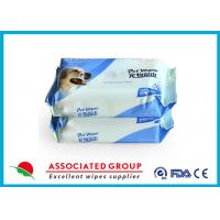 China 80 PCS Deodorizing Slight Scent / Unscented Pet Wet Wipes For Paw / Body Grooming wholesale