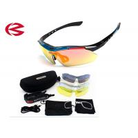 Anti Reflective REVO Coating Cycling Sunglasses Interchangeable Lenses With Prescription Inserts