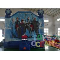 China 13ft Frozen Jumping Moonwalk Inflatable Bounce House For Backyard Party For Girl wholesale