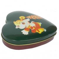 China Mini Heart Shape Chocolate Tin Box , Sweet Candy Container Box With Lid wholesale