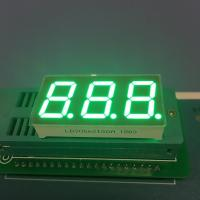 "China Pure Green Seven Segment LED Display 0.56 "" 3 Digit For Instrument Panel wholesale"