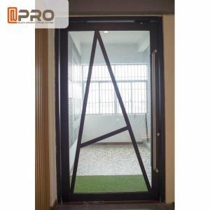China Floor Spring Aluminum Pivot Doors For Interior House Customized Size wholesale