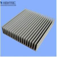 China Aluminum Industrial Porifle Heat Sink Extrusion Profiles Sand Blasted wholesale
