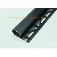 Buy cheap Anodized Black Metal Stair Nosing For Tile With Curved Edge Long Lifespan from wholesalers