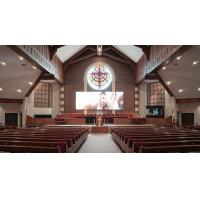 China Die Cast cabinet SMD2121 6x3m Indoor Church LED Screen Display high Refresh rate on sale