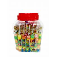 Quality Colorful and Sweet Multi Fruit Flavor Roll Healthy Hard Compress Candy in Jars for sale