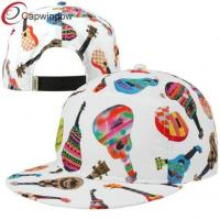 China Large Snapback Baseball Caps White Ukuleles / custom made hats wholesale