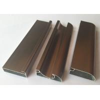 China Anti Rust Aluminum Cabinet Door Extrusion/ Frame Extrusions Coffee Color wholesale