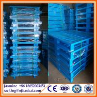 China Color powder paint steel pallet used in industrial factory wholesale