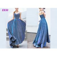 China The starry sky skirt spaghetti strap a line evening formal party dress wholesale