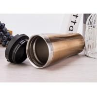double wall stainless steel vacuum insulated suction travel mug