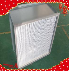 China 610x610x292mm aluminum frame separator mini-pleat high temperature HEPA air filter wholesale