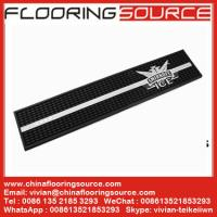 China Rubber PVC Personalised Beer Bar Mat PVC Spills Runner Mat prevent spills protect bar surface wholesale