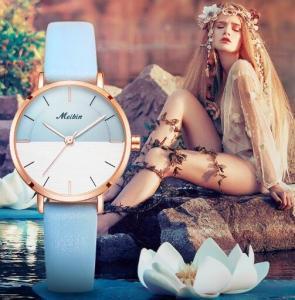 Buy cheap MEIBIN Fashion Simple Ladies Waterproof 30m Genuine Leather Band Quartz Wrist from wholesalers