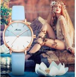 China MEIBIN Fashion Simple Ladies Waterproof 30m Genuine Leather Band Quartz Wrist Watches 1112 wholesale
