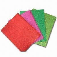 China Glitter EVA Foam Sheets for Art and Craft Uses, Available in Various Colors wholesale