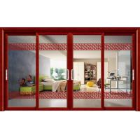 China Large Living Room Four Panels Door Aluminium Sliding Door Double Tempered Glass wholesale