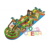 China Crazy Racing Obstacle Course Inflatable Rentals , Inflatable Bounce House Obstacle Course wholesale