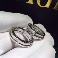 China Bvlgari diamonds of couple ring 18kt  gold  with white gold or yellow gold wholesale