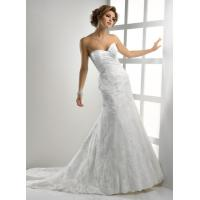 China Gorgeous Romantic Lace Wedding Gowns , Sweetheart Strapless Mermaid Dress wholesale