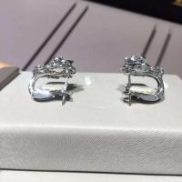 Quality Piaget brand jewelry 18kt Piaget Rose earrings in 18K white gold set with 72 for sale