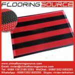 China Vinyl Z web floor mat wet area non-slip drain water and scrape dirt door mat wholesale