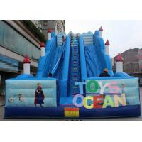 China Frozen Theme Inflatable Slides 0.55m PVC For Amusement Park Fancy Castle wholesale