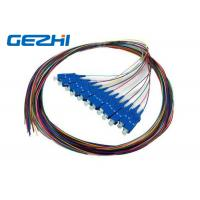 Wholesale SC / UPC SC / PC Multi Core Fiber Optic Pigtail cables 12 Core 0.9mm Customised Length from china suppliers
