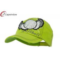 China Lime Baseball Cap with Softball and Feathers / Hip Hop Baseball Caps for Female wholesale