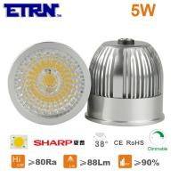 China ETRN Brand Sharp COB LED 5W MR16 Dimmable LED Spotlight Bulbs LED Lights LED Spot lamps on sale