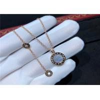 China 18K Gold Diamond Necklace Simple Design For Girlfriend / Wife wholesale