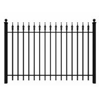 China Fashionable Ornamental Iron Fence Parts Wrought Iron Components Powder Coated on sale