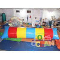China Big Colorful Lake Inflatable Water Blob Catapult Blob Trampoline 2 Years Warranty wholesale