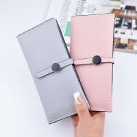 China Female Foldable Leather Clutch Wallet Large Capacity For Money Coin Card Holders wholesale