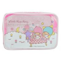 0.25mm Transparent Zipper Cosmetic Bags Cartoon Character Pattern For Travelling